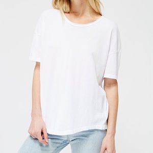 LACAUSA Forever Tee in Whitewash